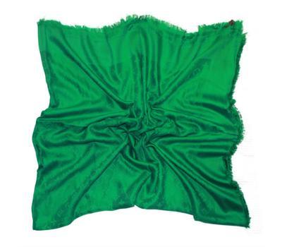 Платок Louis Vuitton Monogram ярко-зеленый 140х140