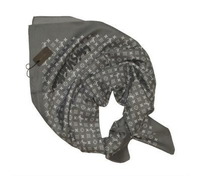 Платок шёлковый Louis Vuitton 4056 серый