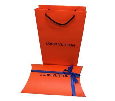 Комплект пакет и подарочная коробка Louis Vuitton оранжевый