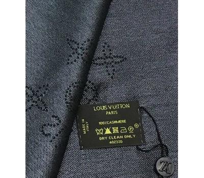 Платок Louis Vuitton женский чёрный с люреском 4010