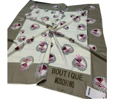 Платок шелковый женский Moschino бежевый 40004