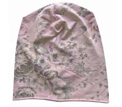 Шапка трикотажная Tranini 0951 из хлопка розовая