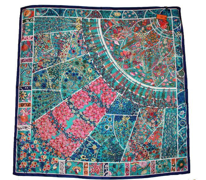 68320ef68fb3 Шелковый платок HERMES голубой, 5144 в интернет магазине monbabiole ...