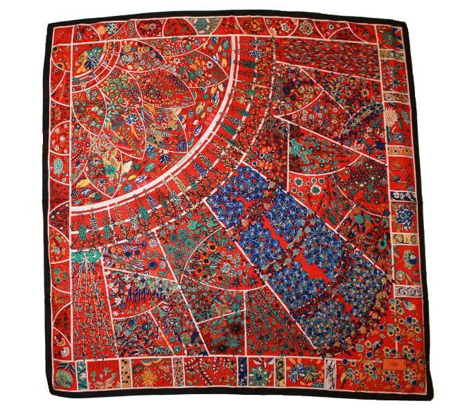 fb913c81dd0d Шелковый платок HERMES красный, 5145 в интернет магазине monbabiole ...